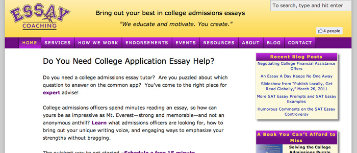 essay to college admissions