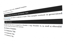 The Sample Content Shortcode WordPress Plugin